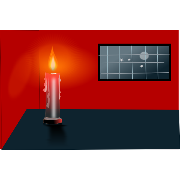 Candle on the table