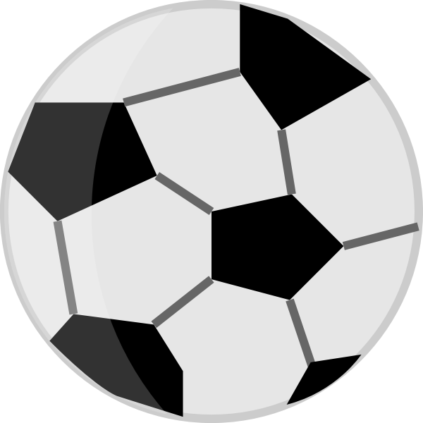 Soccer ball in black and white