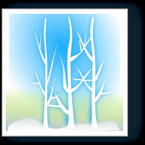 Winter vector landscape image