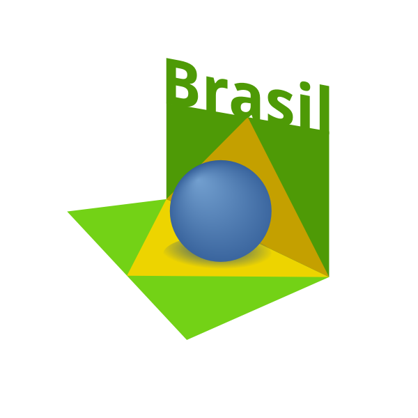 Brazil flag art 3D vector image
