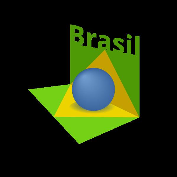 Brazil flag art 3D vector image