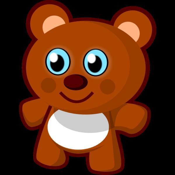 Teddy bear toy vector clip art