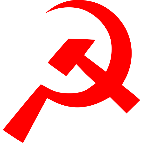 Communism sign of thin hammer and sickle vector image