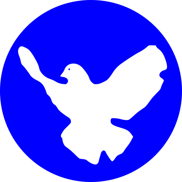 Dove in blue circle