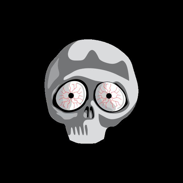 Vector clip art of scared skull