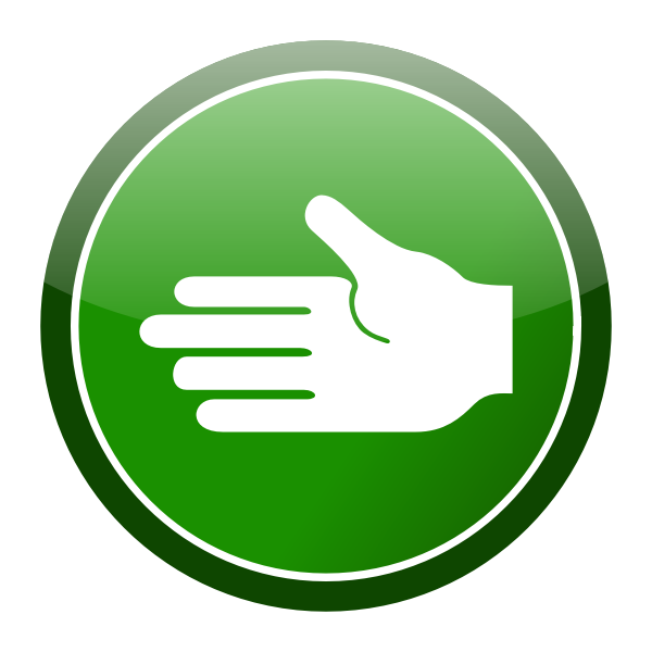 Green hand icon vector clip art