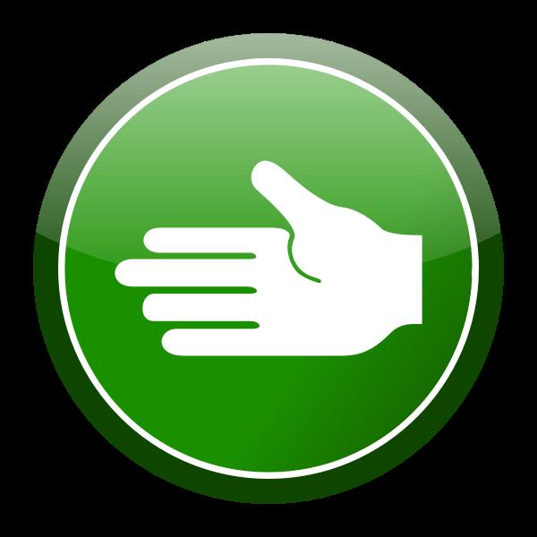 Green hand icon vector clip art