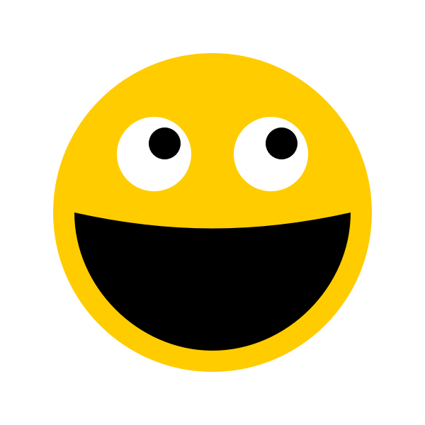 Smiley looking at mouse cursor vector illustration