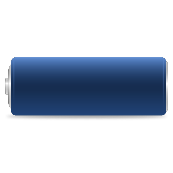 Cylinder battery vector drawing