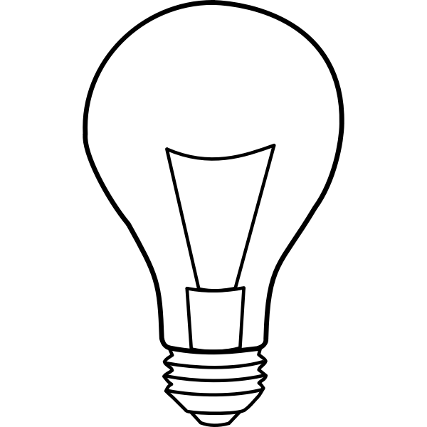Light bulb outline shape