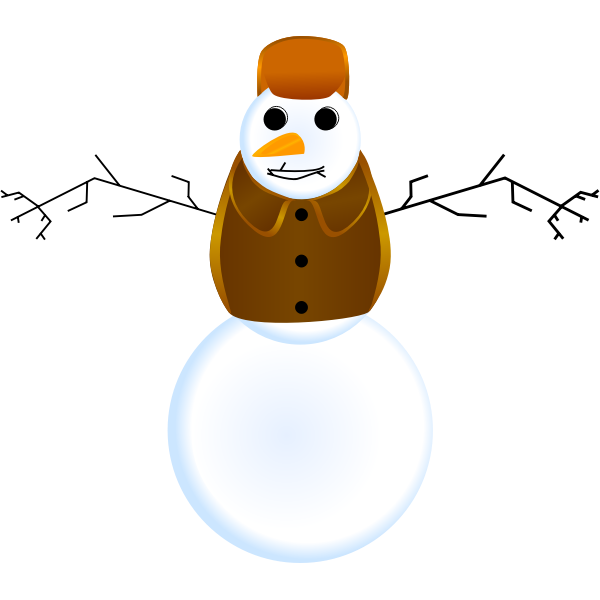 Snowman with clothes vector
