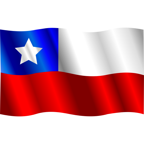 Wavy Chilean Vector Flag