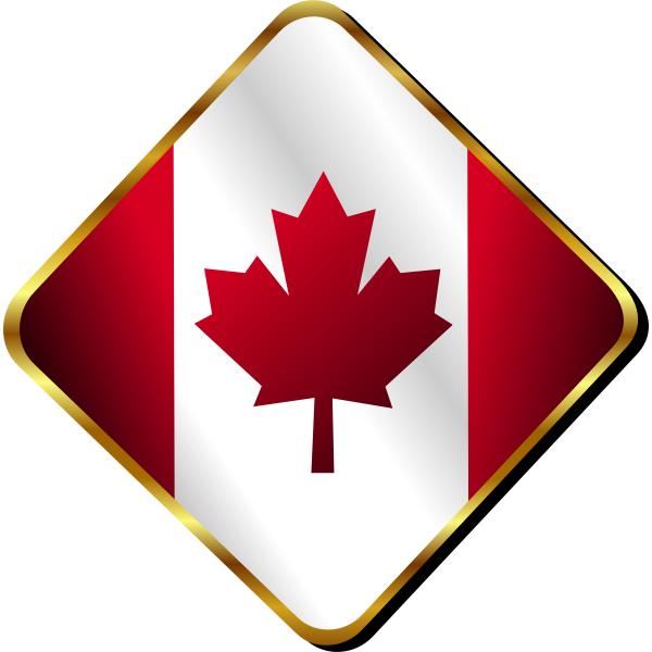 Canadian badge vector image