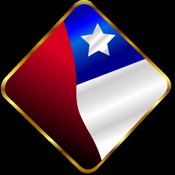 Chilean Flag Pin Vector