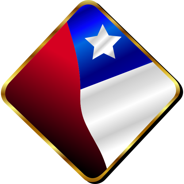 Chilean Flag Pin Vector
