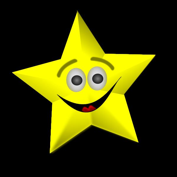Smiling Star Vector Art