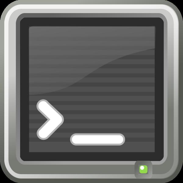 Linux default terminal window vector clip art