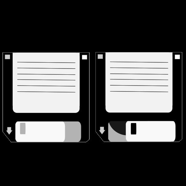 Floppy Disks Vector Clip Art