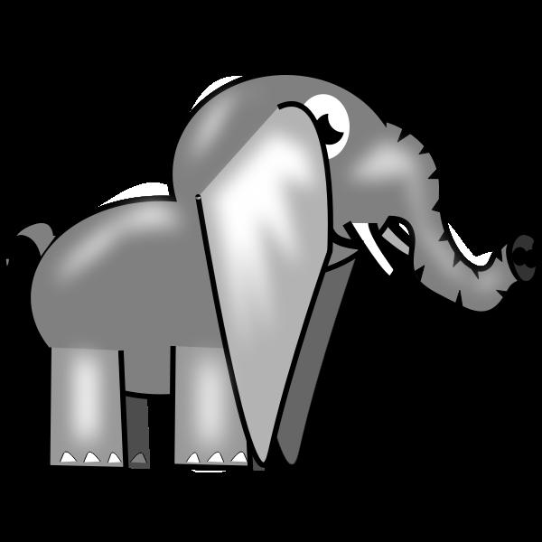 Image of a gray elephant