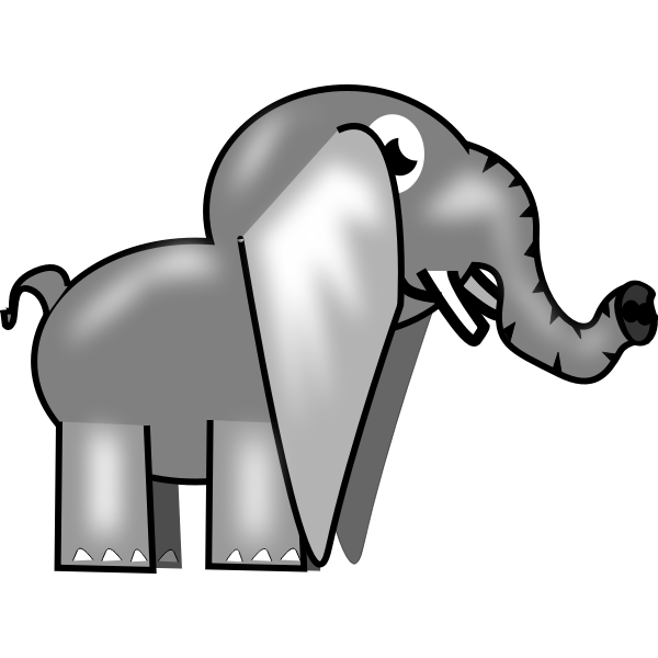 Image of a gray elephant