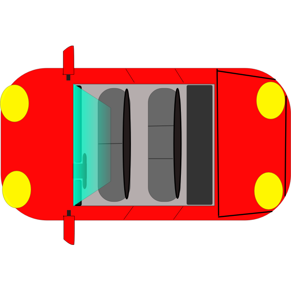 Vector graphics of sports car