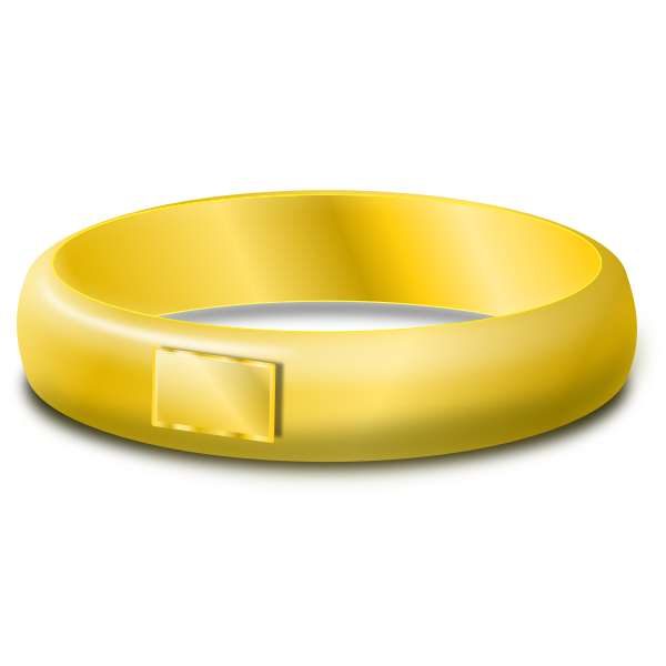 Vector clip art of one gold wedding ring