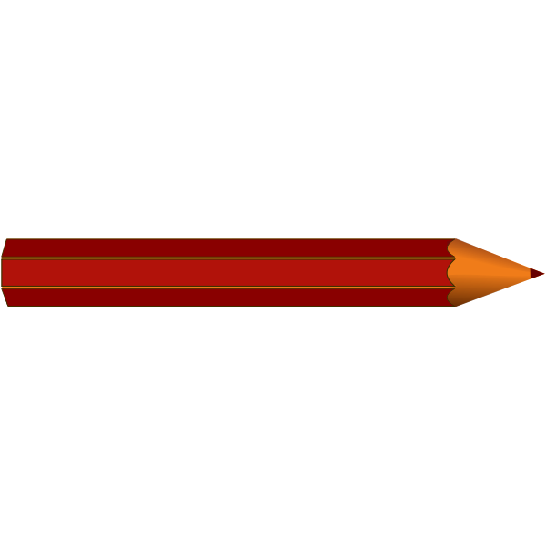 Red pencil vector clip art