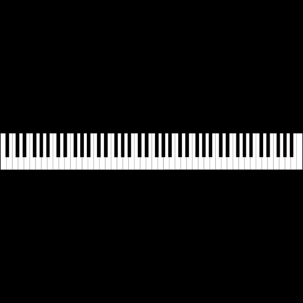 88-key piano keyboard vector image