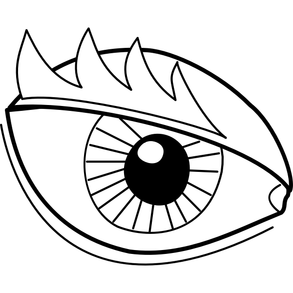 Eye drawing image