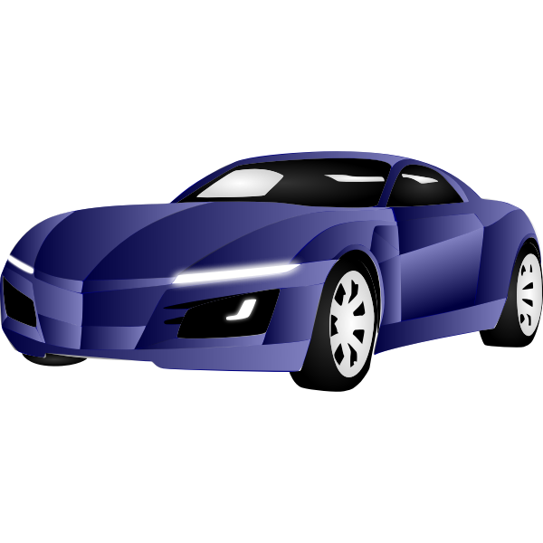 Vector illustration of blue sports car