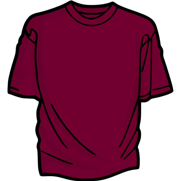 Purple t-shirt vector image
