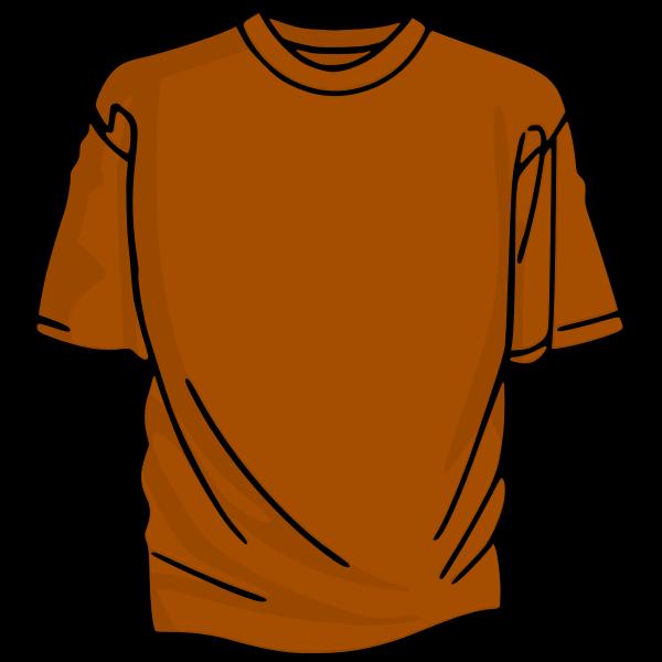 Orange t-shirt vector clip art