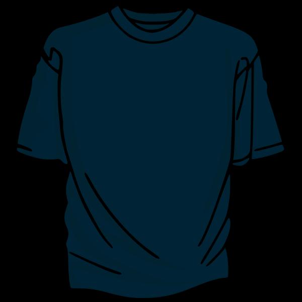 Dark bluet-shirt vector drawing