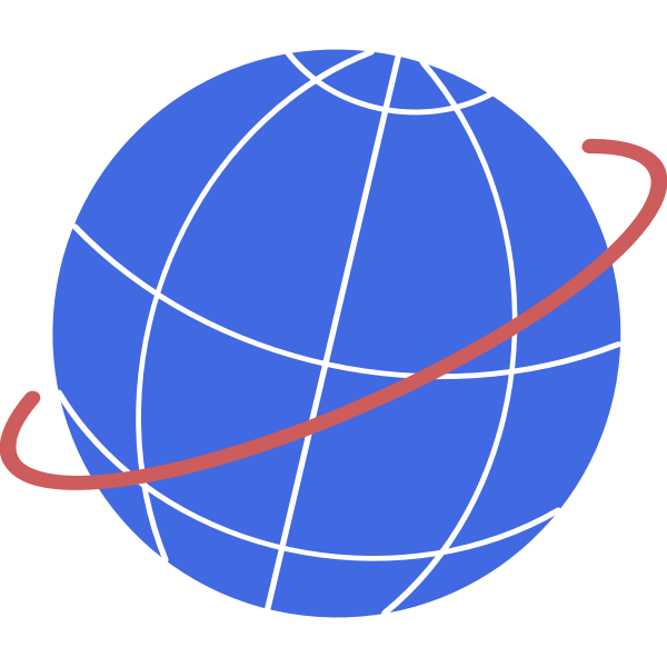 Vector illustration of globe with flight path