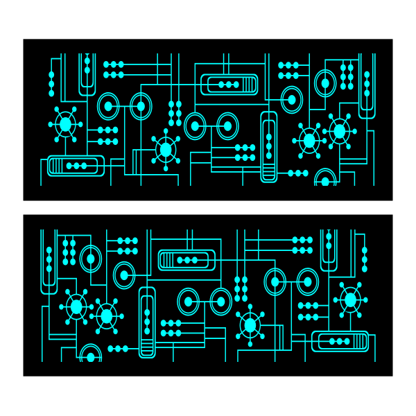 Motherboard vector clip art