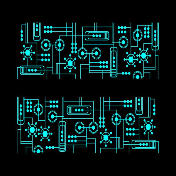 Motherboard vector clip art