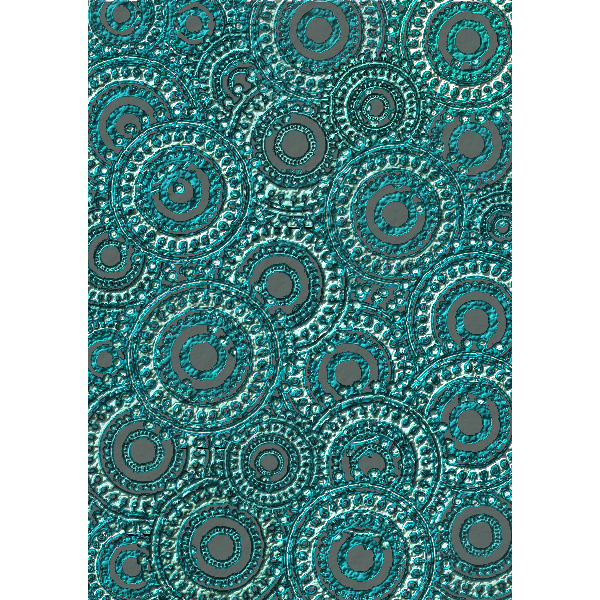 Teal Circle Pattern Scrapbook Paper