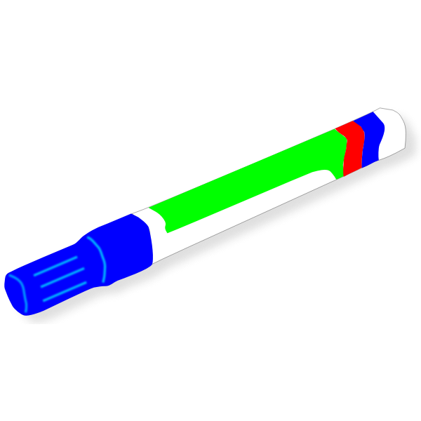 Blue marker vector image