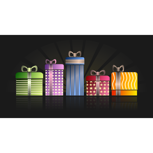 Colorful gifts vector clip art