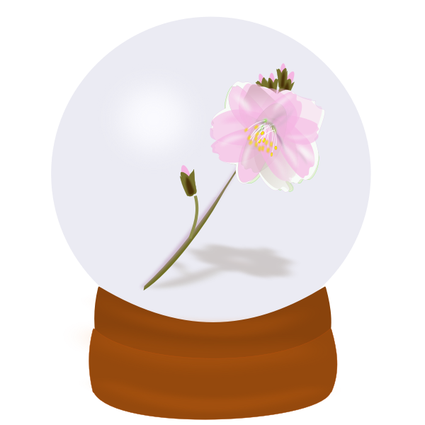Vector drawing of flower globe