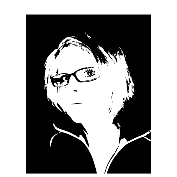 Blond girl with glasses vector graphics