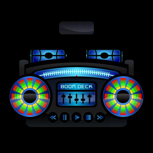Boombox vector clip art
