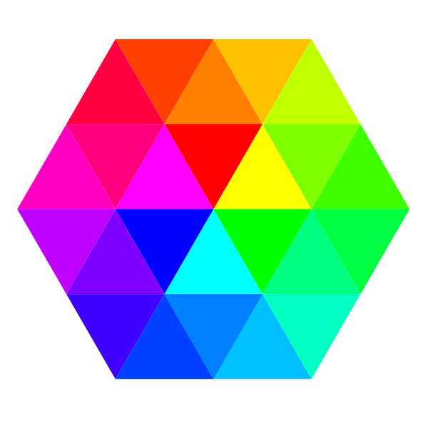 24 color hexagon