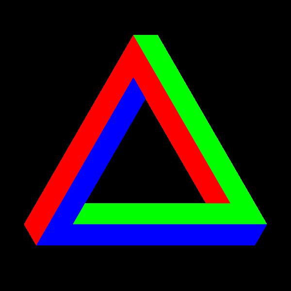 Penrose Triangle RGB
