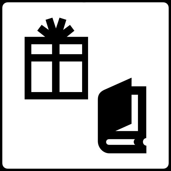 Vector graphics of gift shop hotel symbols