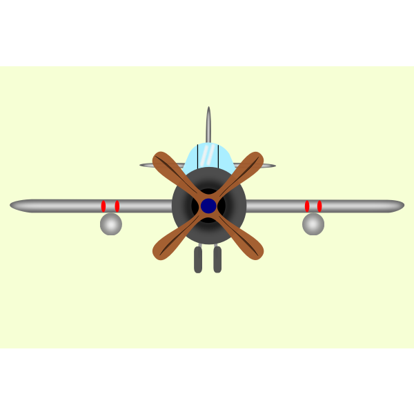 Vector graphics of old type of aircraft