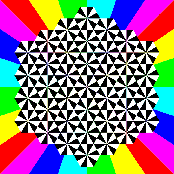half regular triangle tessellation