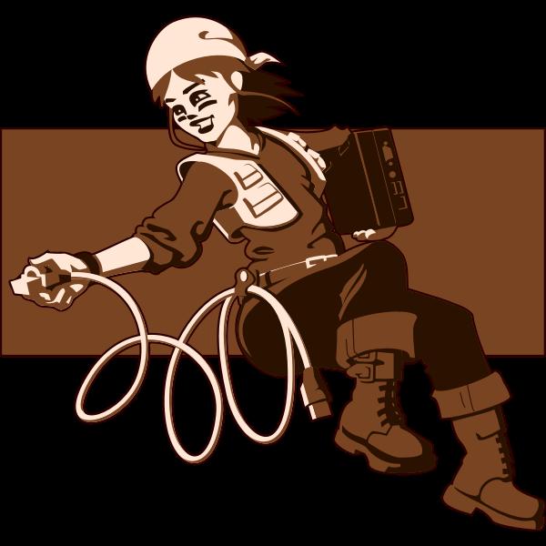 Online girl vector image