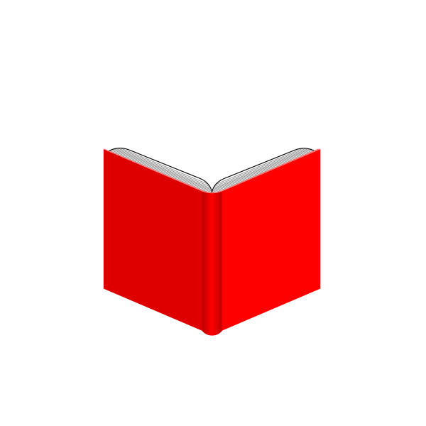Open book with red cover