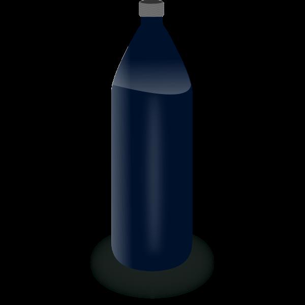 Black water bottle vector clip art